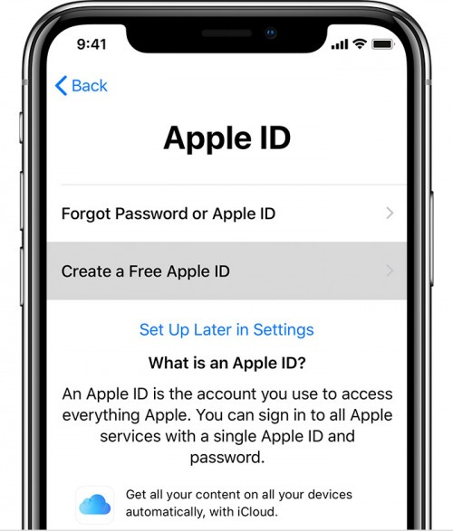 create apple account