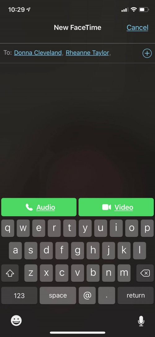 how to group facetime with facetime app