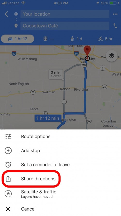 How to Share Directions in Apple & Google Maps | iPhoneLife.com Directions With Multiple Stops Google Maps on