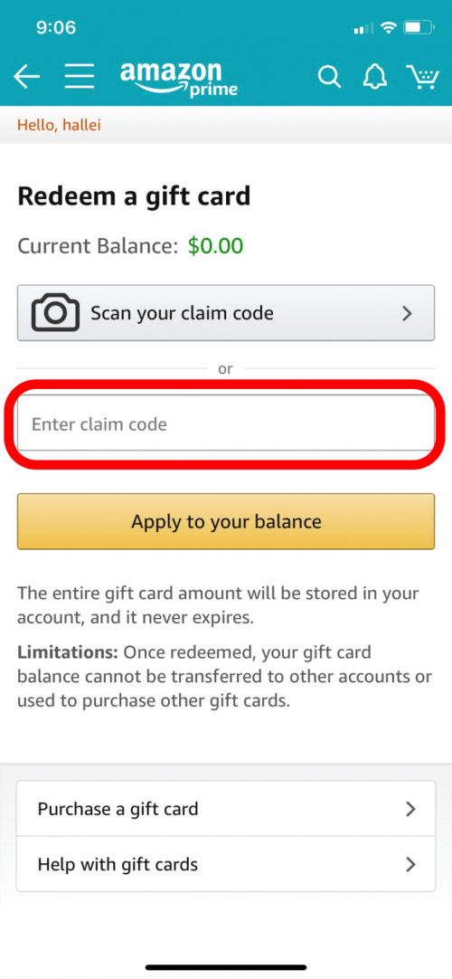 How To Redeem An Amazon Gift Card Or Claim Code On Your