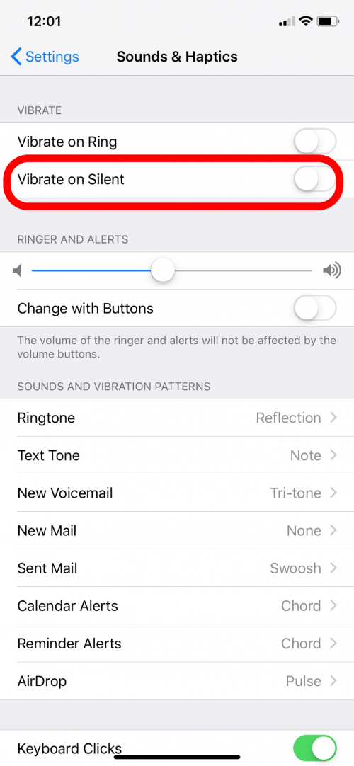 How to make phone vibrate on silent