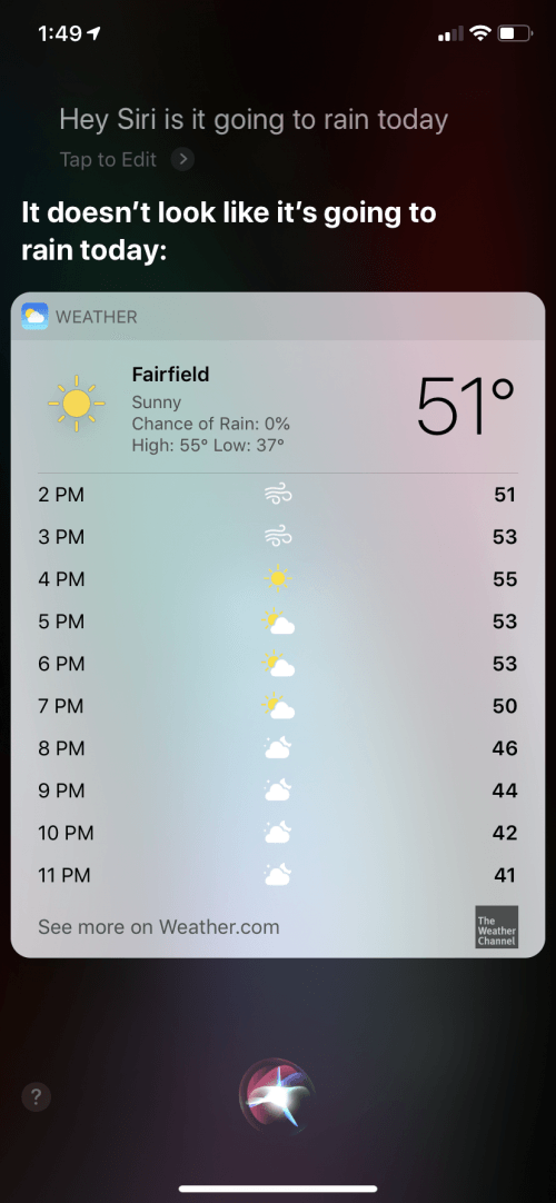 How to Check Weather Forecast with Hey Siri | iPhoneLife com