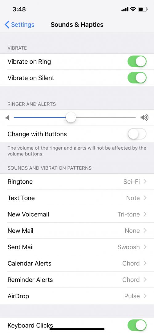 cannot change ringtone on iphone 6