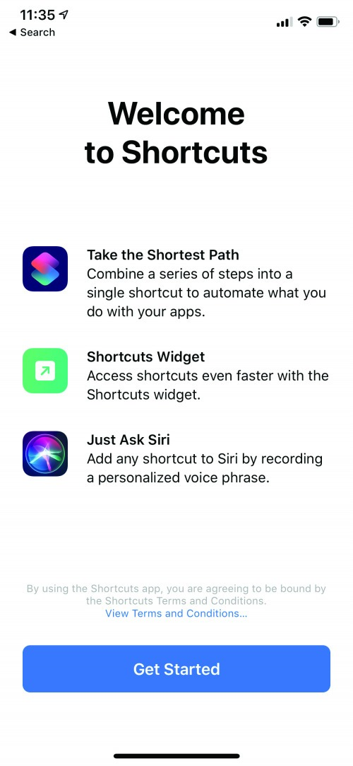 welcome to shortcuts