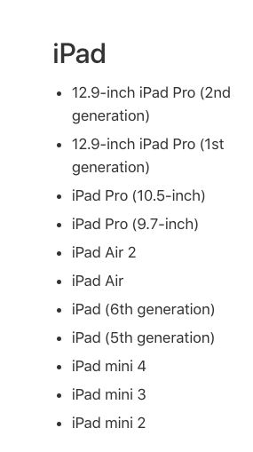 ipads that can data transfer with quick start