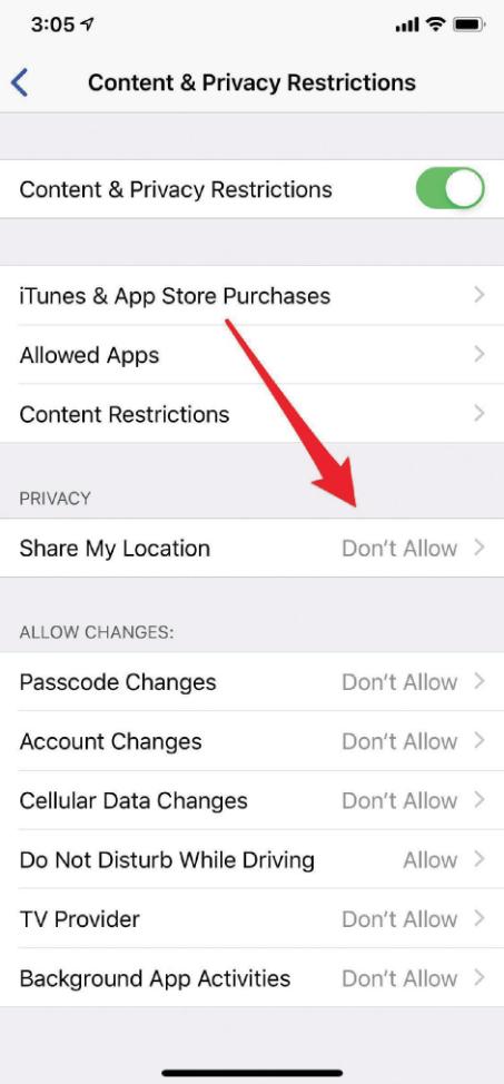 block iphone tracker