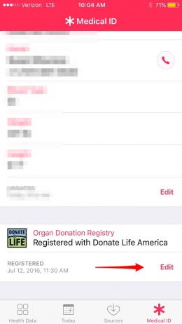 how to register as an organ donor on iPhone with iOS 10