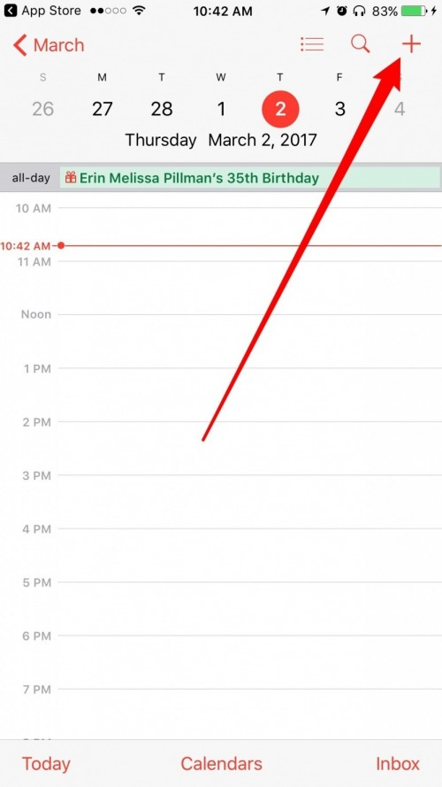 how to make an event on iphone calendar