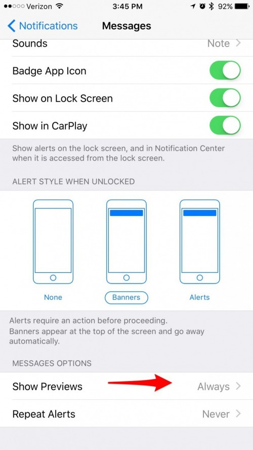 iphone message preview how to hide text messages from lock screen turn 12032