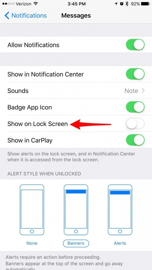 Best way to hide text messages on iphone
