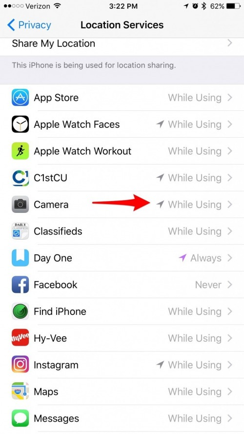 How to Keep Your Camera From Tracking Your Location on
