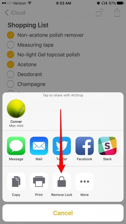 How To Remove A Lock From Notes On Iphone Iphonelife