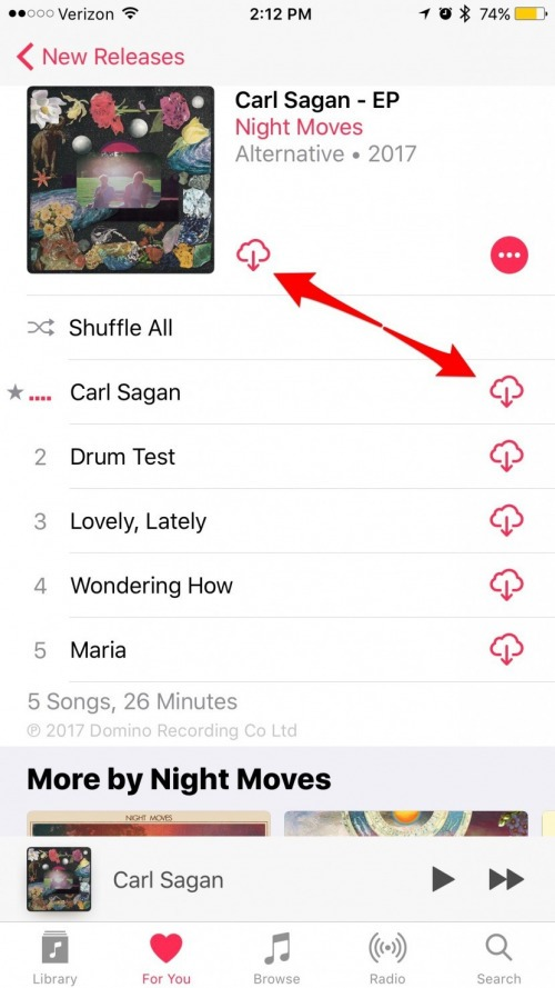 How to Make Songs Available Offline with Apple Music on iPhone