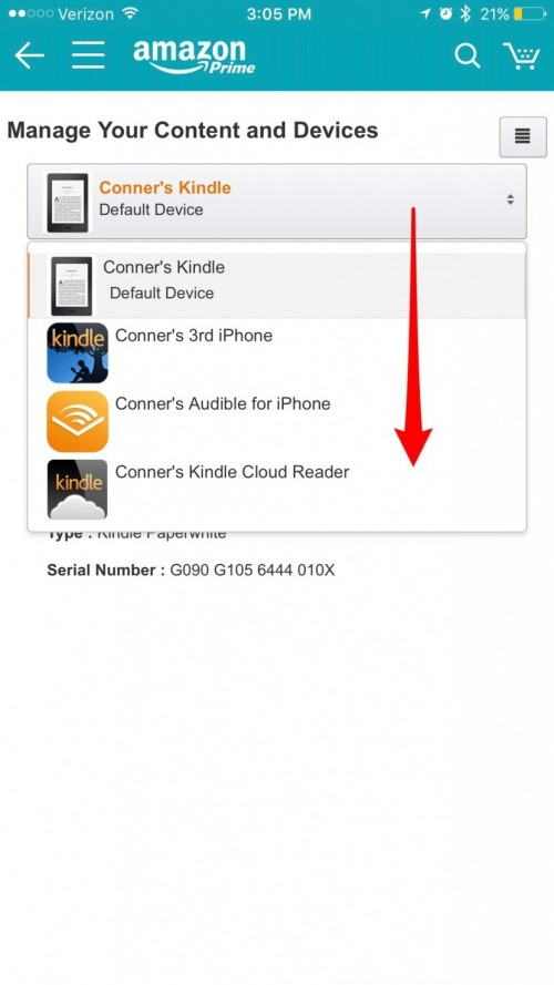 How to Delete an Old iPhone or iPad from Your Amazon Kindle