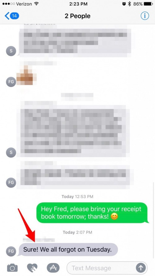 Click on the specific message you were looking for and it will take you into the message at the place of that conversation. The iMessage you located will ...