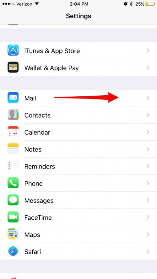 how to change how many lines of an email are previewed in the mail app
