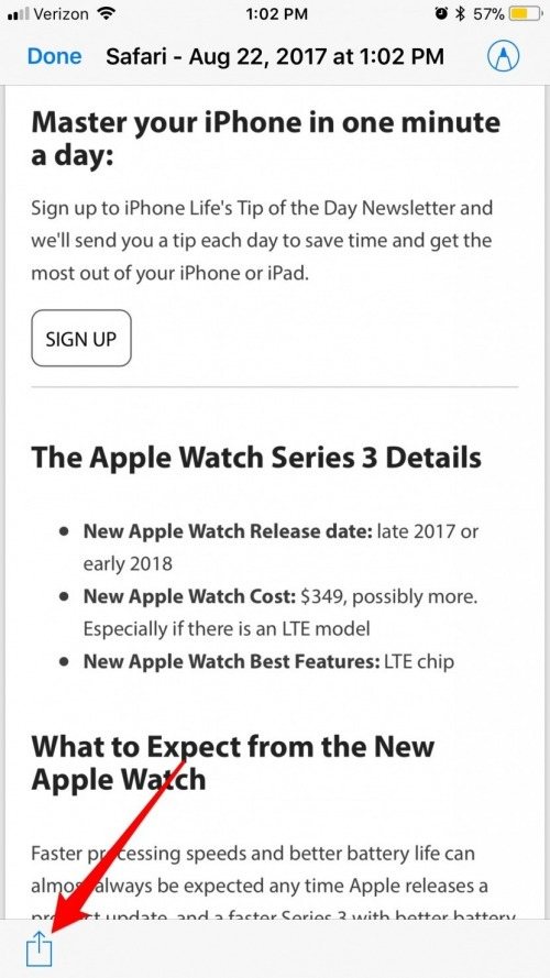 How to Turn a Safari Webpage into a PDF on iPhone or iPad