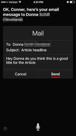 Tip of the Day: How to Send Emails with Siri