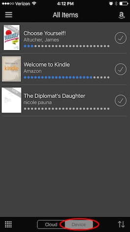 remove delete books from kindle cloud vs. device