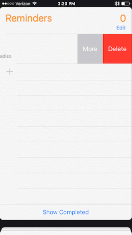how to get rid of reminders on iphone 4