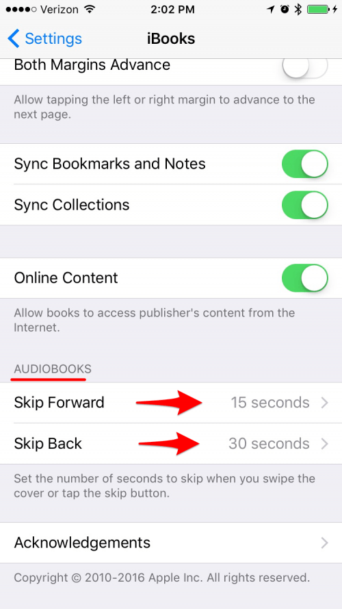 How to Change How Far You Skip Backward and Ahead in Audio Books in iBooks