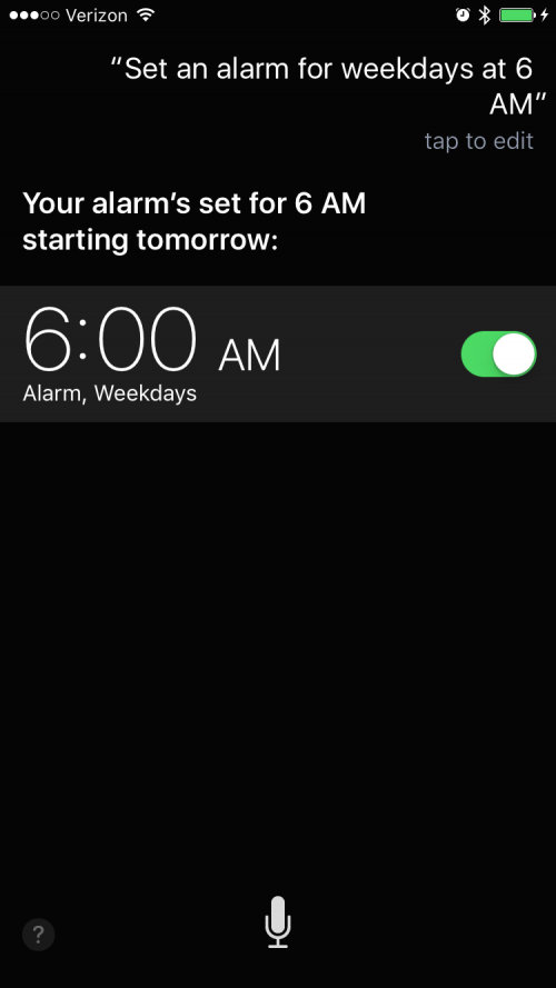 How To Tell Siri to Set an Alarm on Weekdays Only