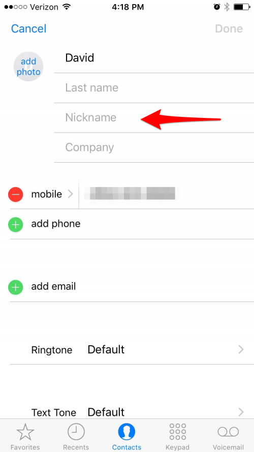 How to Organize Contacts with the Same Name
