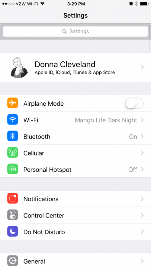 apple account info iOS 10.3