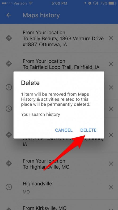 erase google history on iphone how to delete location amp search history on iphone in 16897