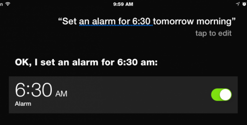 Use Siri to Set an Alarm or Timer