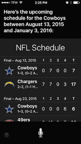 Use Siri for All Your Sports Information
