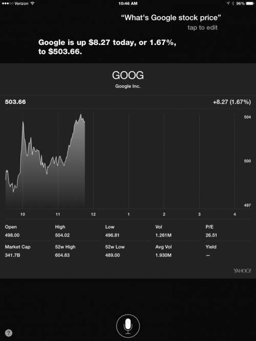 Use Siri to Check Stock Prices and Performance