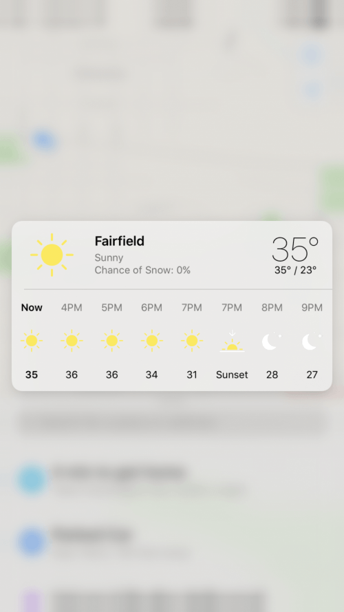 weather in maps iOS 10.3