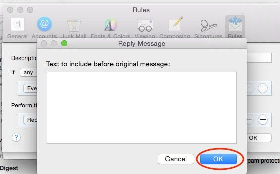 How to Setup Automatic Email Reply for OS X Mail App