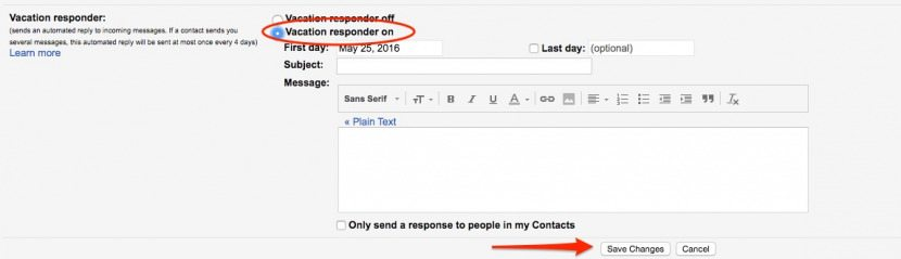How to Setup Out of Office Automatic Reply for Gmail