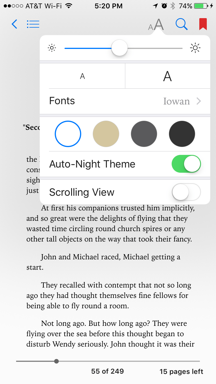 Tip of the Day: How to Scroll Instead of Turning Pages in iBooks and