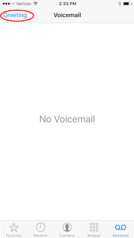 How to change your voicemail greeting on your iphone iphonelife to use your carriers generic greeting tap default and press done m4hsunfo