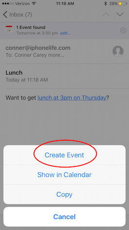 how to add work calendar to iphone