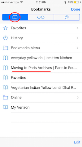 How to Peek at Bookmarks