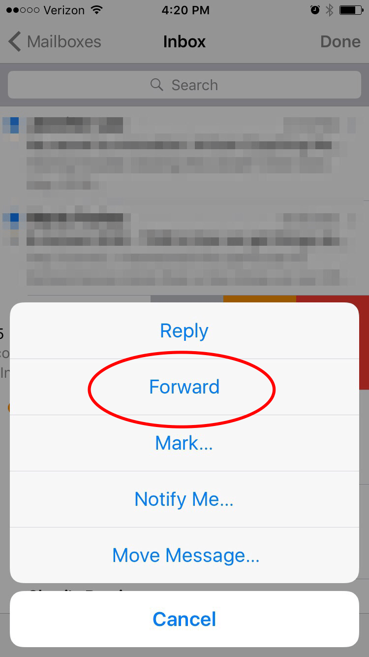 How to Forward an Email forecasting