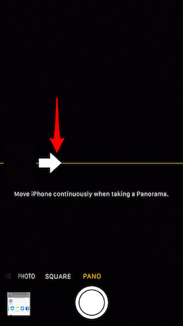 How to Switch Direction in Panorama Mode
