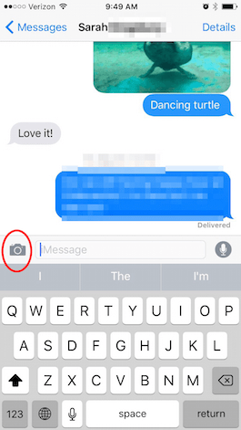 how to send photo on iphone using message