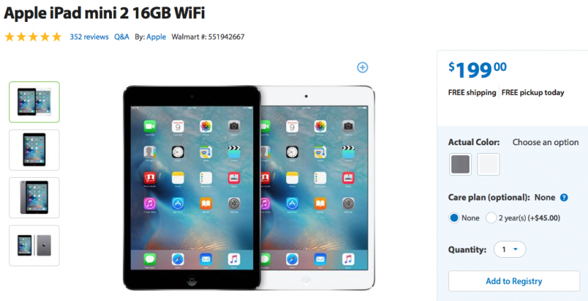 Ipad mini retina deals walmart
