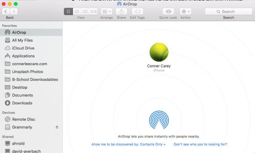 How to airdrop photos other files from iphone to mac or if you dont see your iphone image unlock your phone and it should appear ccuart Image collections