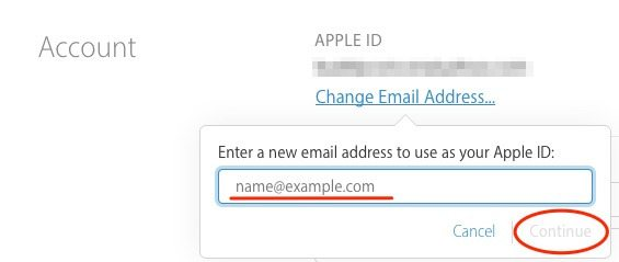 how to change your apple account