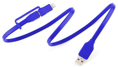Tylt Flyp-Duo Reversible USB Charge and Sync Cable