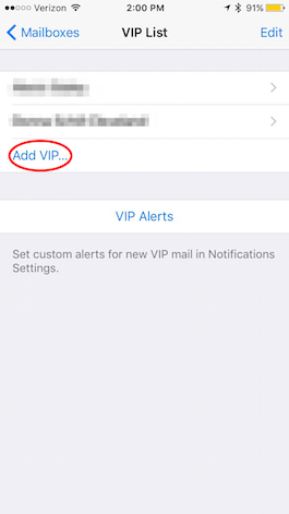 how to add a mailbox on iphone