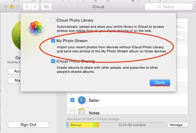 How move photos from icloud to mac
