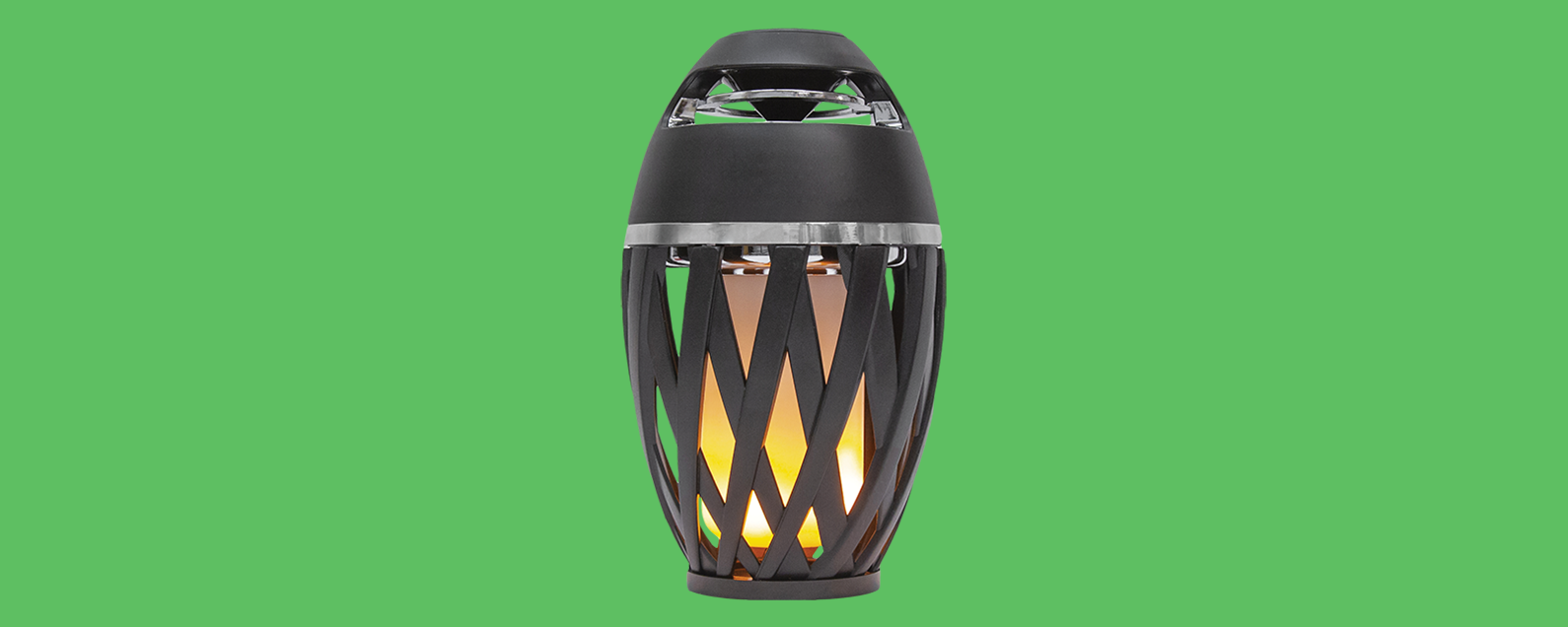 Bluetooth Speaker Review Party Outside With Tiki Torch
