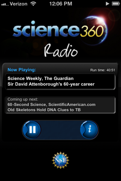 National Science Foundation's science360 radio